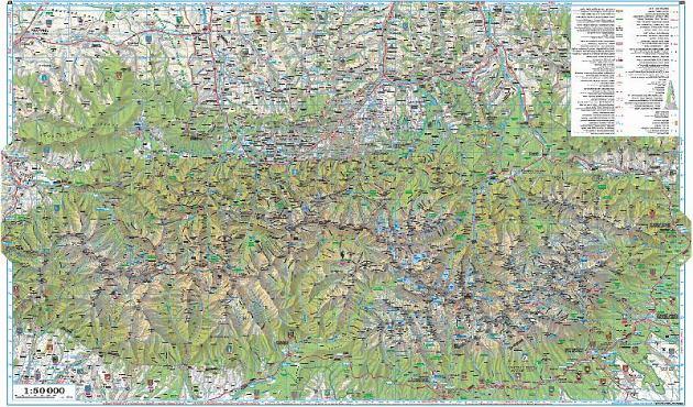 Tatry W Calosci I Podhale Mapa Turystyczna 1 50 000 Sygnatura