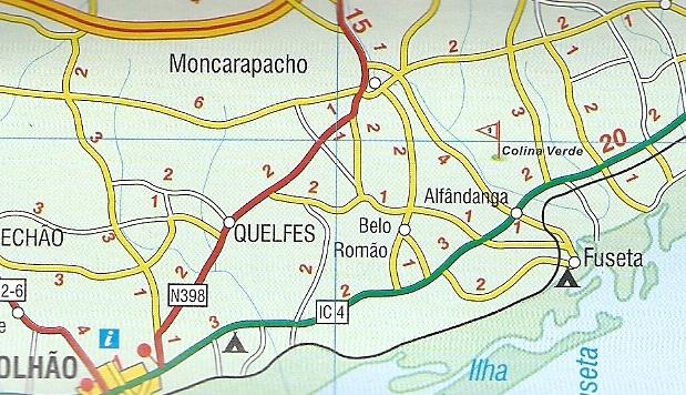Algarve Mapa Samochodowa 1 300 000 Turinta
