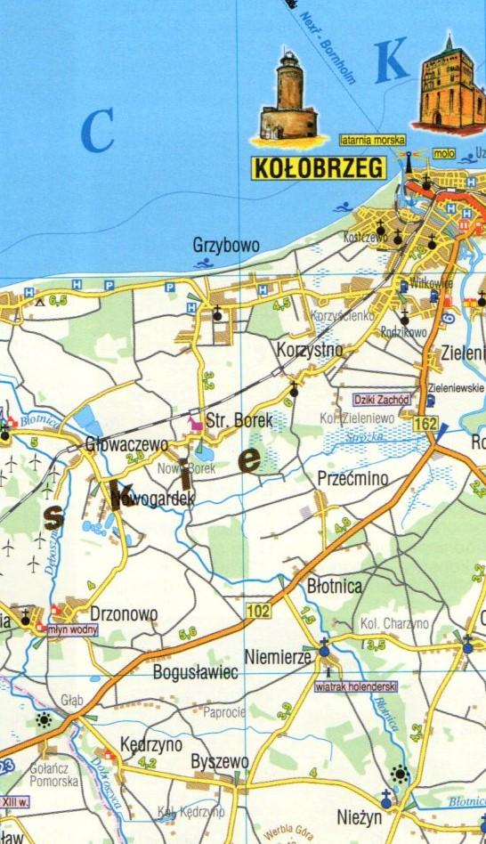 Pomorze Gdanskie Mapa Turystyczna 1 160 000 Wyd Plan