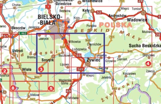 Szczyrk I Okolice Atrakcje Bielska Bialej Mapa Turystyczna 1 25