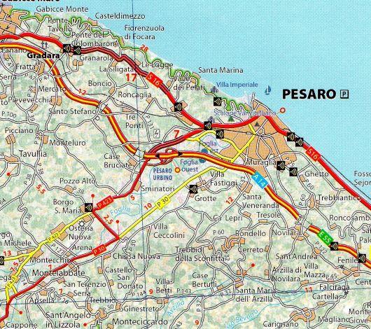 359 Umbria Marche Mapa Samochodowa 1 200 000 Michelin