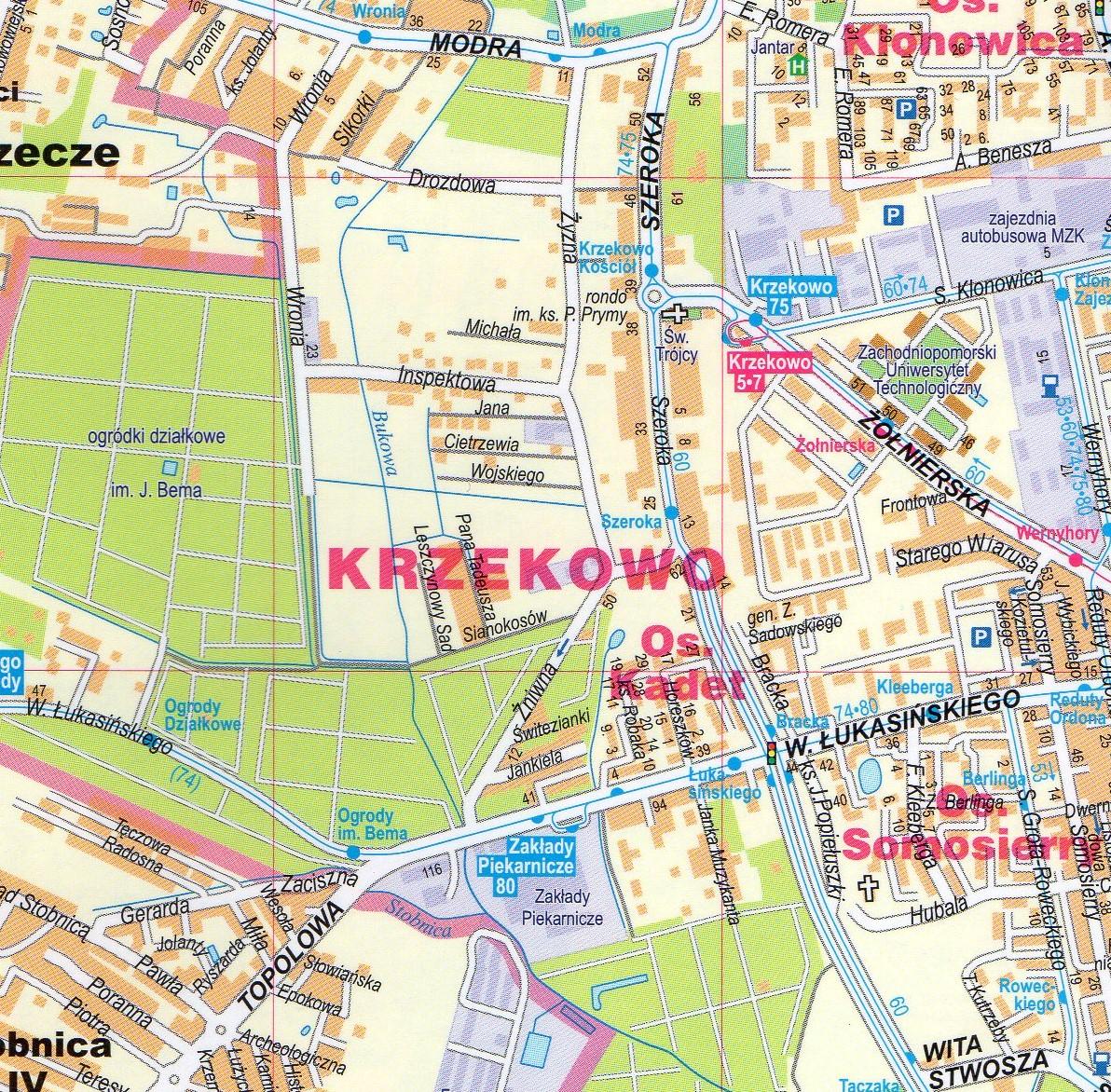 Szczecin Swinoujscie Police Foliowany Plan Miasta 1 22 000 Expressmap