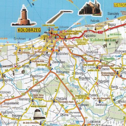 Pobrzeze Baltyku Mapa Turystyczna 1 45 000 Wyd Plan