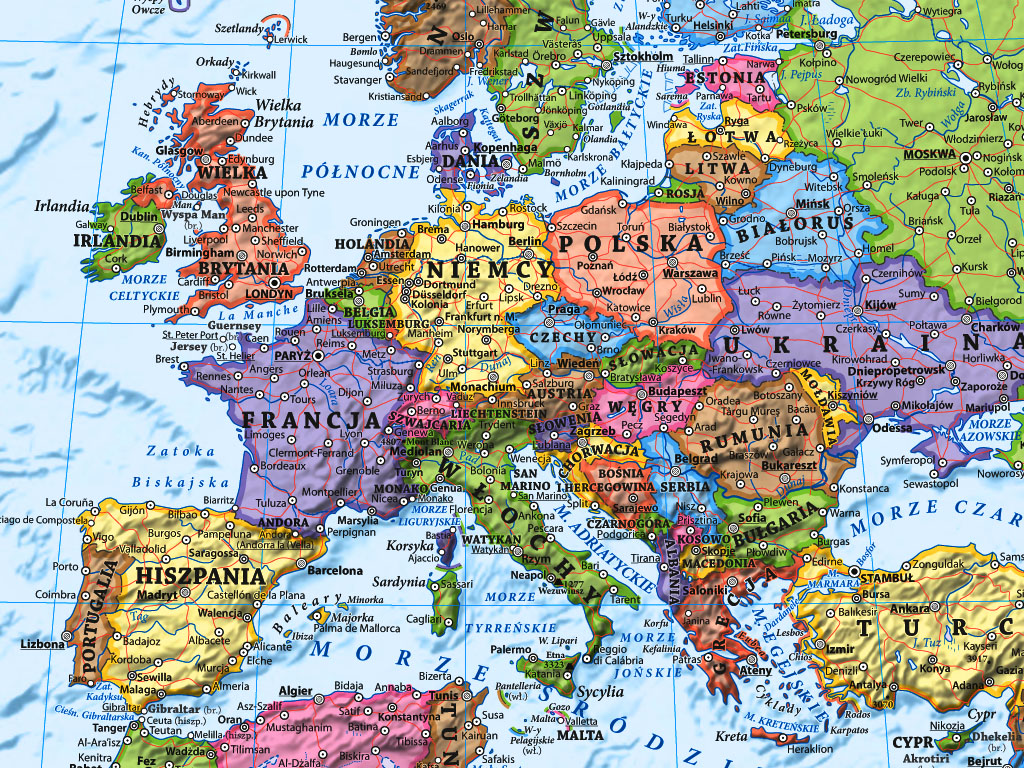 Swiat Scienna Mapa Polityczna 1 18 000 000 Ekograf 2020